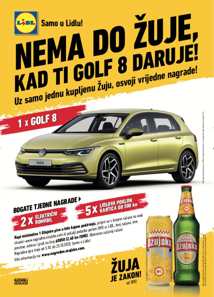 Nema do Žuje, kad ti Golf 8 daruje!